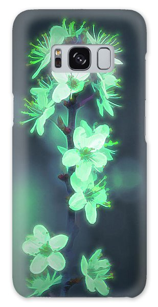 Another World - Glowing Flowers Galaxy Case
