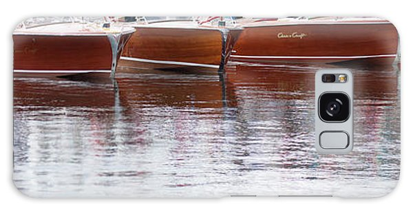 Antique Classic Wooden Boats In A Row Panorama 81112p Galaxy Case