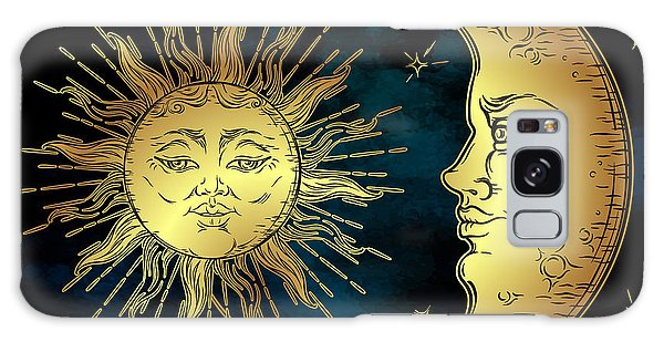 Beam Galaxy Case - Antique Style Hand Drawn Art Golden by Croisy