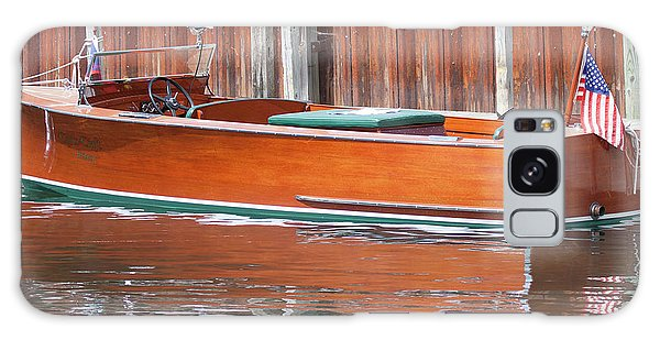 Antique Wooden Boat By Dock 1302 Galaxy Case
