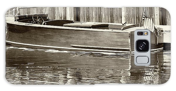 Antique Wooden Boat By Dock Sepia Tone 1302tn Galaxy Case