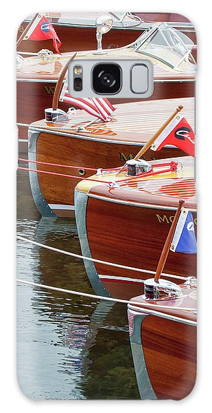 Antique Wooden Boats In A Row Portrait 1301 Galaxy Case