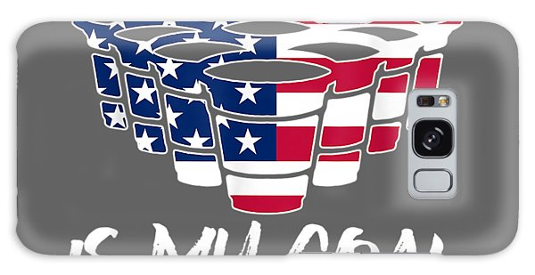 Any Galaxy Case - Any Hole Is My Goal American Flag Beer Flip Cup Pong T Shirt by Unique Tees