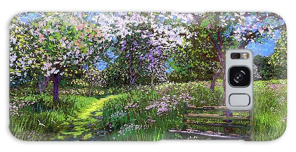 Blossoms Galaxy Case - Apple Blossom Trees by Jane Small