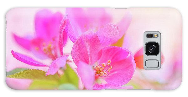 Apple Blossoms Colorful Glow Galaxy Case