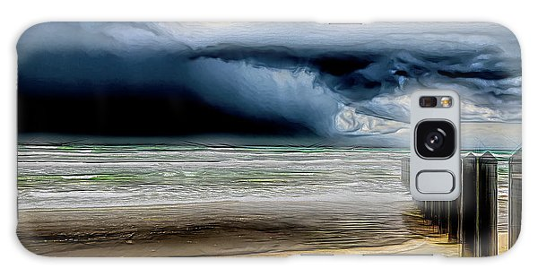 Padre Island National Seashore Galaxy S8 Case - Approaching Storm At The Beach    by Debra Martz