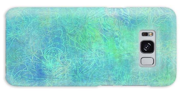 Aqua Batik Print Coordinate Galaxy Case