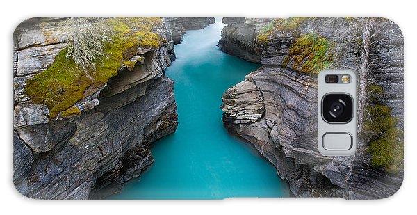 Scenery Galaxy Case - Aqua Waters At Athabasca Falls by Larissa Dening