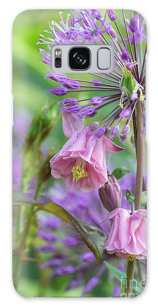 Aquilegia Galaxy Case - Aquilegia And Allium Flowers by Tim Gainey