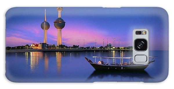 Long Exposure Galaxy Case - Arabian Passenger Boat During Blue Hour by Arlo Magicman