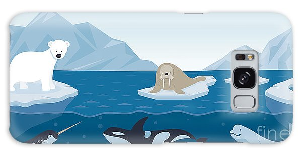 Alaska Galaxy Case - Arctic Animals Character And by Muchmania