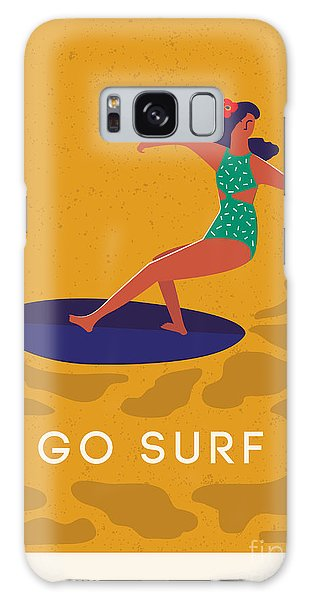 Board Galaxy Case - Art Deco Surf Poster In Vector. Summer by Nicetoseeya