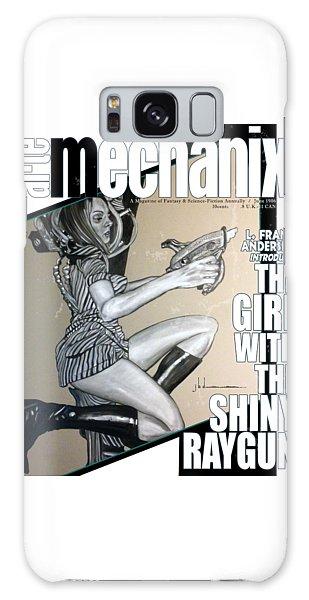 arteMECHANIX 1906 The GIRL WITH The SHINY RAYGUN GRUNGE Galaxy Case