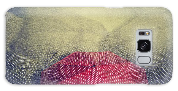 Parasol Galaxy Case - Artistic Image Of Red Umbrella Standing by Hitdelight