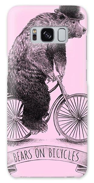 Bike Galaxy Case - Bears On Bicycles by Eric Fan