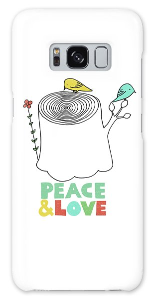 Peace Galaxy Case - Peace And Love by Eric Fan