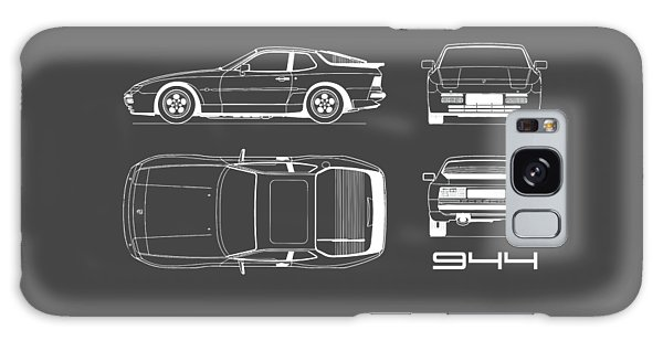 Sports Car Galaxy Case - Porsche 944 Blueprint by Mark Rogan