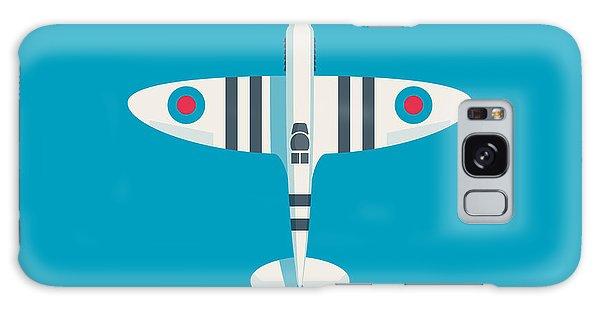 Ww2 Galaxy Case - Supermarine Spitfire Fighter Aircraft - Stripe Blue by Ivan Krpan