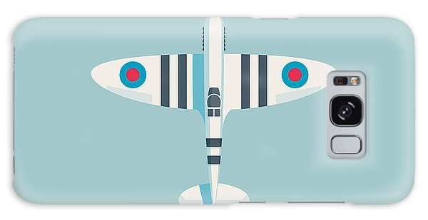 Ww2 Galaxy Case - Supermarine Spitfire Fighter Aircraft - Stripe Sky by Ivan Krpan