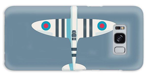 Ww2 Galaxy Case - Supermarine Spitfire Fighter Aircraft - Stripe Slate by Ivan Krpan