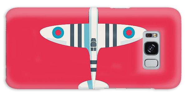 Ww2 Galaxy Case - Supermarine Spitfire Fighter Aircraft - Stripe Crimson by Ivan Krpan