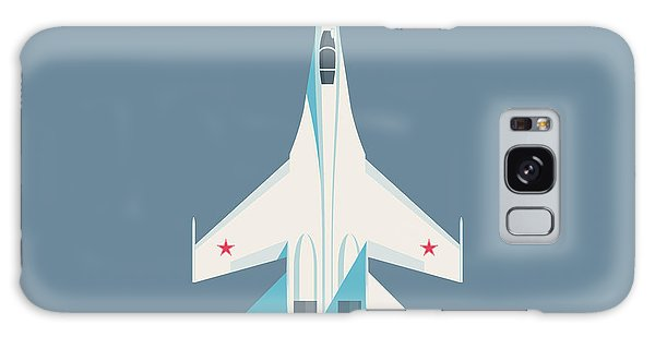 Fighter Galaxy Case - Su-27 Flanker Fighter Jet Aircraft - Slate by Ivan Krpan
