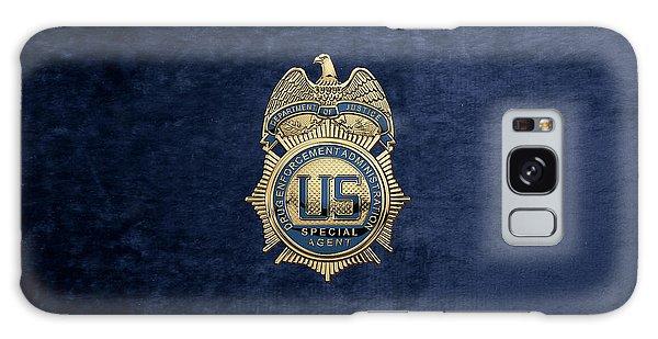 Drug Enforcement Administration -  D E A  Special Agent Badge Over Blue Velvet Galaxy Case