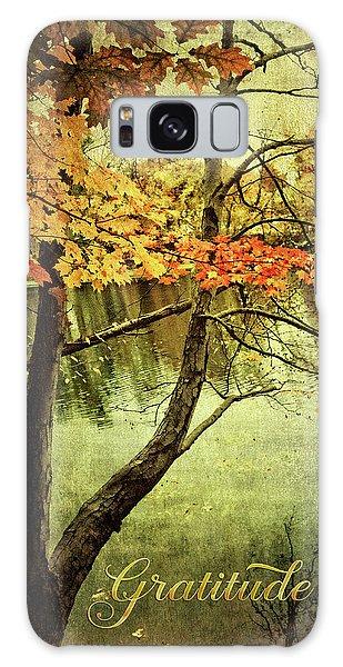Fall Foliage Gratitude Artwork Galaxy Case