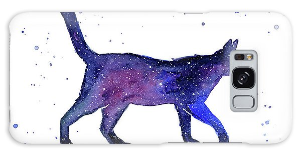 Galaxy Galaxy Case - Space Cat by Olga Shvartsur