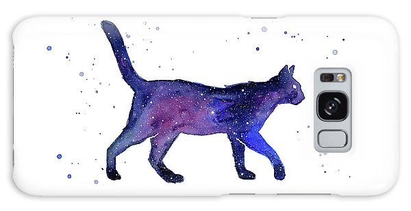 Outer Space Galaxy Case - Space Cat by Olga Shvartsur