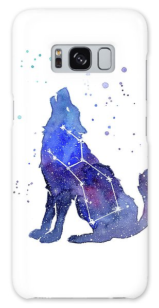 Outer Space Galaxy Case - Galaxy Wolf - Lupus Constellation by Olga Shvartsur