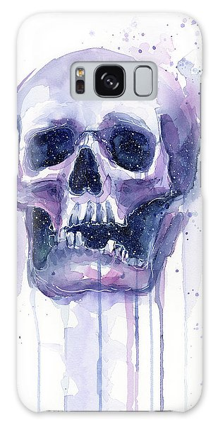 Galaxy Galaxy Case - Skull In Space by Olga Shvartsur