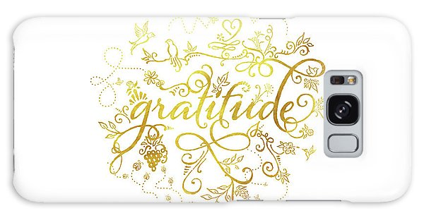 Golden Gratitude Galaxy Case
