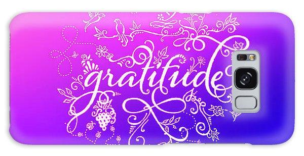 Purply Pink Gratitude Galaxy Case