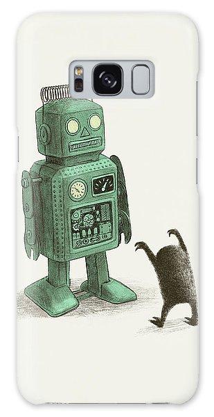 Vintage Galaxy Case - Robot Vs Alien by Eric Fan