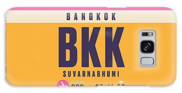 Pass Galaxy Case - Retro Airline Luggage Tag - Bkk Bangkok Thailand by Ivan Krpan