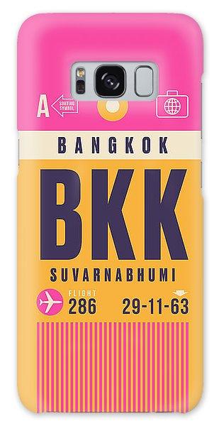 Airport Galaxy Case - Retro Airline Luggage Tag - Bkk Bangkok Thailand by Ivan Krpan