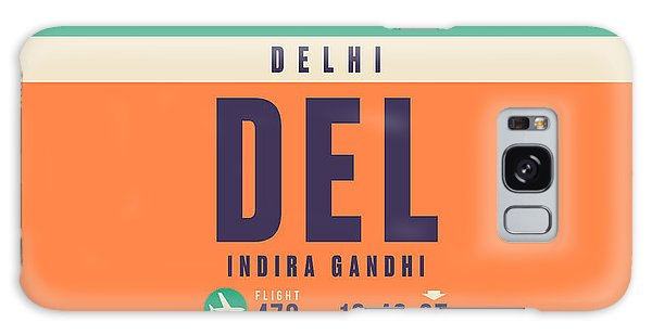 Pass Galaxy Case - Retro Airline Luggage Tag - Del Delhi Airport by Ivan Krpan