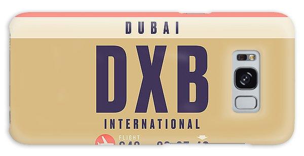 Pass Galaxy Case - Retro Airline Luggage Tag - Dxb Dubai by Ivan Krpan