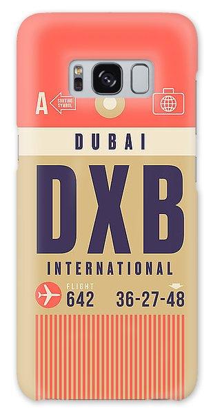 Airport Galaxy Case - Retro Airline Luggage Tag - Dxb Dubai by Ivan Krpan