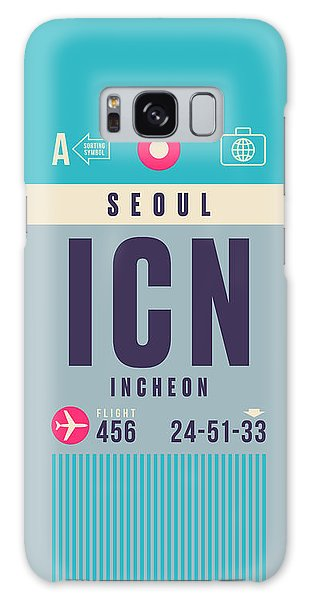 Airport Galaxy Case - Retro Airline Luggage Tag - Icn Seoul Incheon by Ivan Krpan