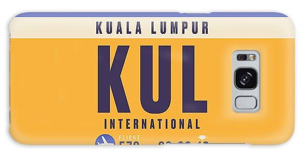 Pass Galaxy Case - Retro Airline Luggage Tag - Kul Kuala Lumpur Airport by Ivan Krpan