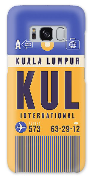 Airport Galaxy Case - Retro Airline Luggage Tag - Kul Kuala Lumpur Airport by Ivan Krpan