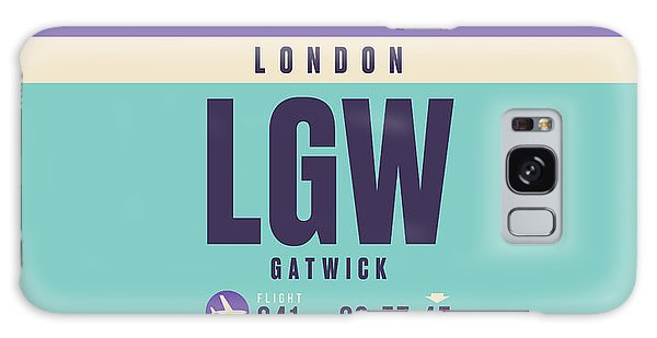 Pass Galaxy Case - Retro Airline Luggage Tag - Lgw London Gatwick Airport by Ivan Krpan