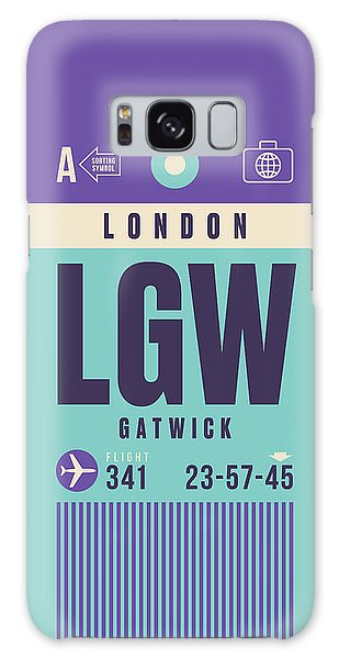 Airport Galaxy Case - Retro Airline Luggage Tag - Lgw London Gatwick Airport by Ivan Krpan
