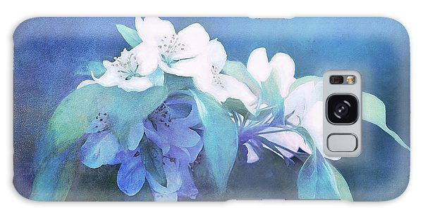Painted Crabapple Blossoms Galaxy Case