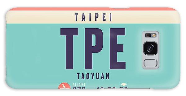 Pass Galaxy Case - Retro Airline Luggage Tag - Tpe Taipei Taiwan by Ivan Krpan