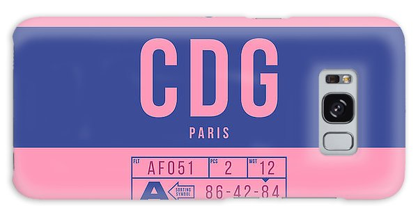 Pass Galaxy Case - Retro Airline Luggage Tag 2.0 - Cdg Paris Charles De Gaulle France by Ivan Krpan