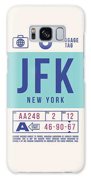 Pass Galaxy Case - Retro Airline Luggage Tag 2.0 - Jfk New York United States by Ivan Krpan