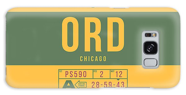Pass Galaxy Case - Retro Airline Luggage Tag 2.0 - Ord Chicago O'hare Airport United States by Ivan Krpan